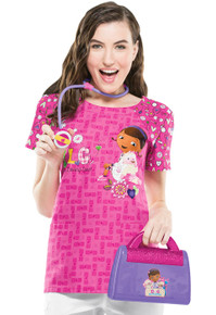 Doc McStuffins Pink TLC Scrub Top For Women