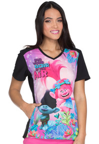 Trolls Scrub Top For Women