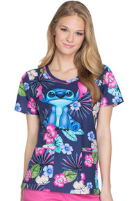 Lilo & Stitch Scrub Top For Women