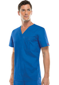 Dickies EDS Antimicrobial Signature Stretch : Men's V Neck Scrub Top*