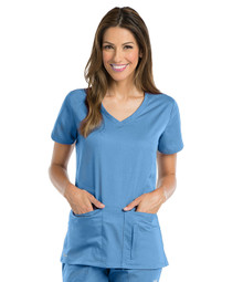 Active by Grey's Anatomy : 4 Pocket Crossover V Neck Scrub Top for Women*