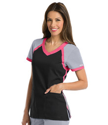 Active by Grey's Anatomy™  Women's Tri-Color V-Neck Solid Scrub Top*