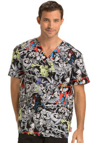 Avenger's V Neck Scrub Top for Men