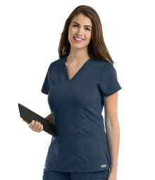 Grey's Anatomy™ Women's V-Neck Solid Scrub Top*