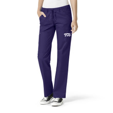 TCU Women's Grape Straight Leg Scrub Pants