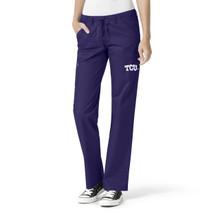 TCU Women's Grape Straight Leg Scrub Pants