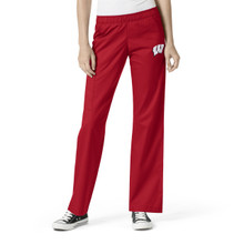 University of Wisconsin Women's Elastic Waist Cargo Scrub Scrub Pants*