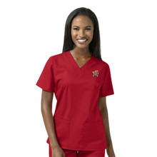 Maryland Terrapins Women's V Neck Scrub Top*