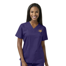 University of Northern Iowa Women's Grape V Neck Scrub Top