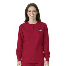 University of Arkansas Cardinal Warm Up Nursing Scrub Jacket