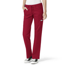 University of Arkansas Cardinal Women's Straight Leg Cargo Scrub Pants