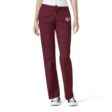 Texas A&M Women's Maroon Flare Leg Scrub Pants