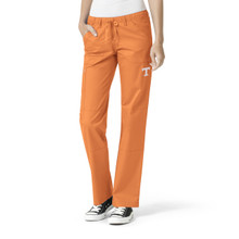 University of Tennessee Orange Women's Straight Leg Cargo Scrub Pants