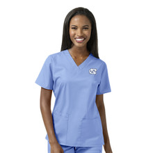 University of North Carolina Tar Heels Women's V Neck Scrub Top*