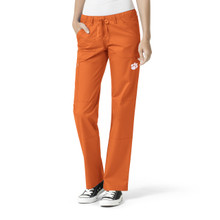 Clemson Tigers Women's Straight Leg Cargo Scrub Pants