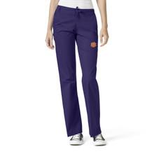 Clemson Tigers Women's Flare Leg Scrub Pants