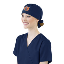 Auburn Tigers Navy Scrub Cap for Women