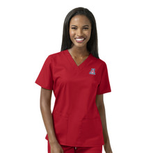 Arizona Wildcats Women's V Neck Scrub Top*