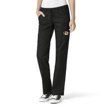 University of Missouri Tigers Women's Straight Leg Black Cargo Scrub Pants