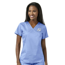 University of North Carolina Tar Heels Women's Ciel Mock Wrap Scrub Top