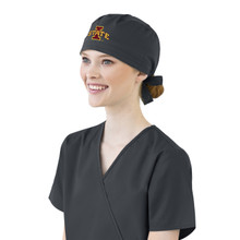 Iowa State Cyclones Pewter Scrub Cap for Women