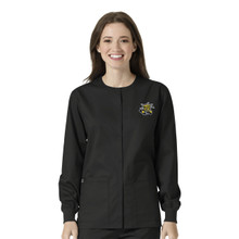 Wichita State Shockers Black Women's Warm Up Nursing Scrub Jacket