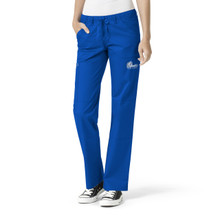 Drake Bulldogs Royal Women's Straight Leg Cargo Scrub Pants