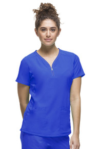 HH360° by Healing Hands Women's Zipper Neckline Scrub Top *