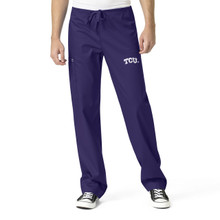 TCU Men's Grape Cargo Scrub Pants