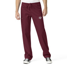 Texas A&M Men's Maroon Cargo Scrub Pants