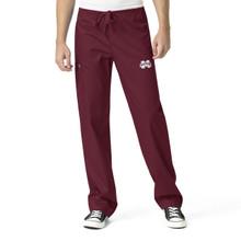 Mississippi State University- Bulldogs Maroon Men's Cargo Scrub Pants
