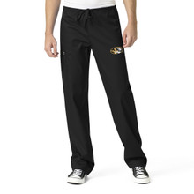 University of Missouri Tigers Black Men's Cargo Scrub Pants