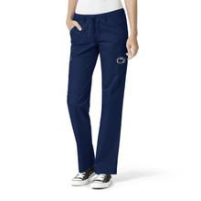 University of Penn State Nittany Lions Navy Women's Straight Leg Cargo Scrub Pants