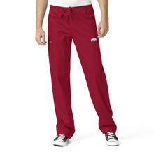 University of Arkansas- Razorbacks Cardinal Men's Cargo Scrub Pants