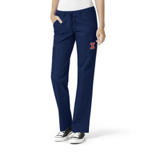 University of Illinois Fighting Illini Navy Women's Straight Leg Cargo Scrub Pants