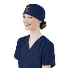 University of Illinois Fighting Illini Navy Scrub Cap for Women