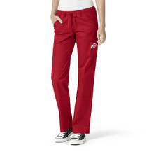 University of Utah-Utes Women's straight Leg Black Cargo Scrub Pants