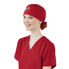 University of Utah Utes Red Scrub Cap for Women