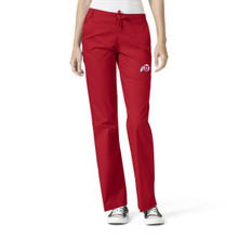 University Of Utah- Utes Red Women's Flare Leg Scrub Pants