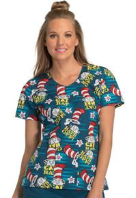 Dr. Seuss Hat Toss Scrub Top For Women