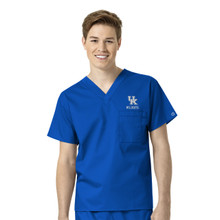 University of Kentucky-Wildcats Royal Men's V Neck Scrub Top