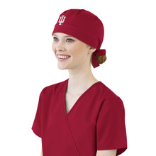 Indiana Hoosiers Cardinal Scrub Cap for Women