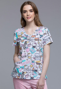 Hello Kitty Woman's Scrub Top