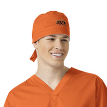Oklahoma State Orange Scrub Cap for Men
