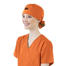 Oklahoma State Orange Scrub Cap for Women