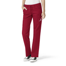 Alabama Crimson Tide Cardinal Women's Cargo Straight Leg Scrub Pants