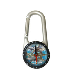 Shark Carabiner & Compass Key Ring