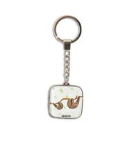 Glass Sloth Key Ring