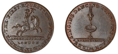 Philip Astley, Copper Halfpenny (D&H Middlesex 362a)