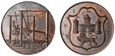 John Harvey, Copper Halfpenny, 1792 (D&H Norfolk 40)